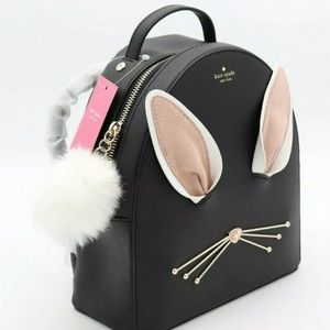 New Kate spade cute bunny backpack leather rabbit
